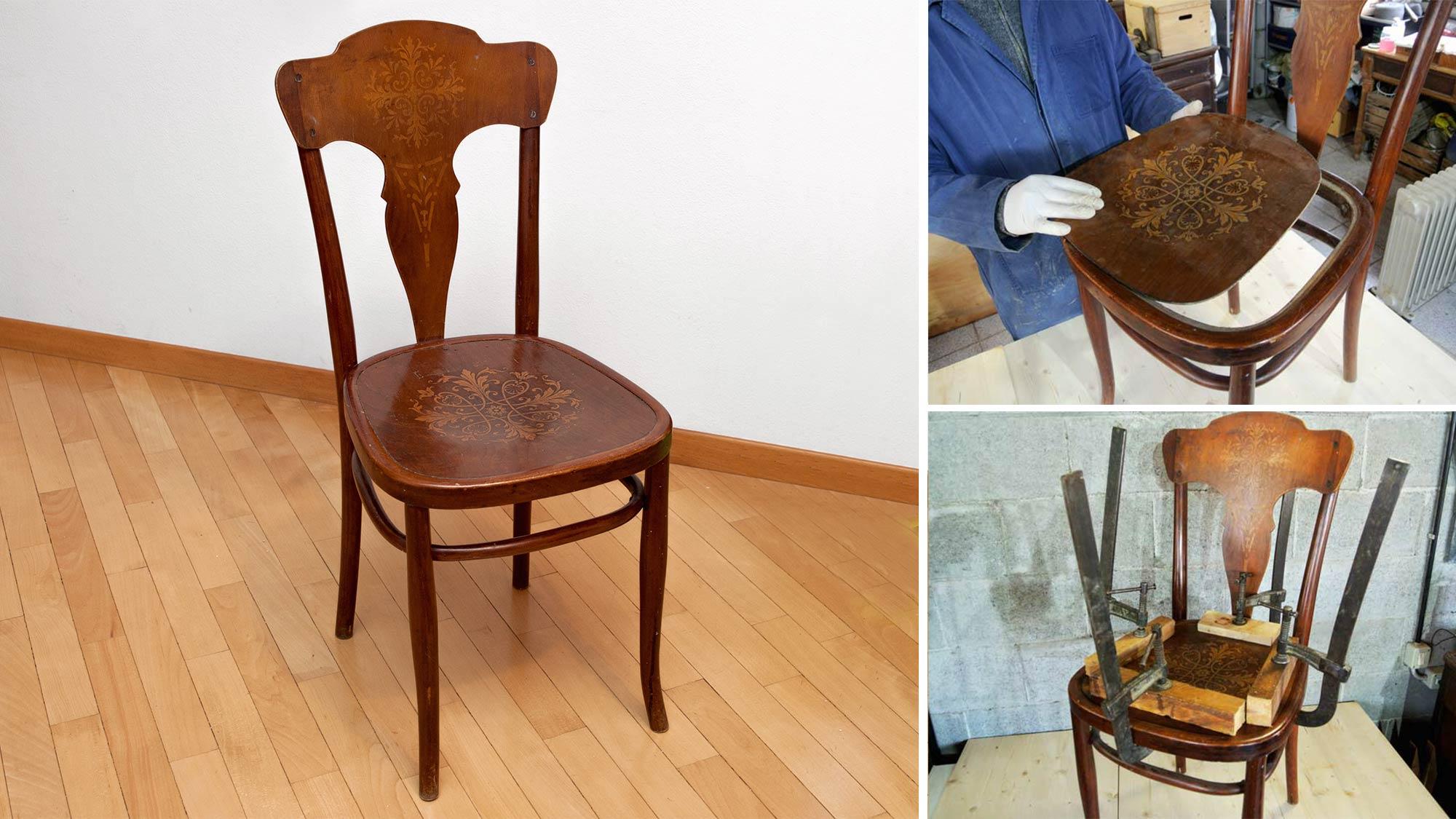 Come restaurare una sedia in legno | Intervento sulla seduta