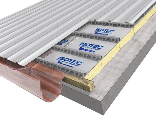 copertura Isotec pannelli