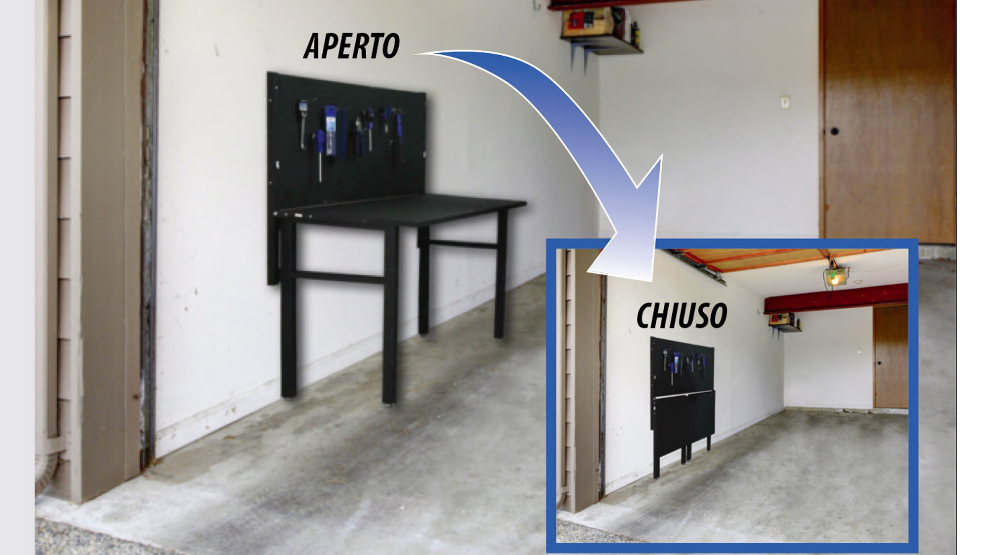 Tavolo da parete richiudibile | Sodifer