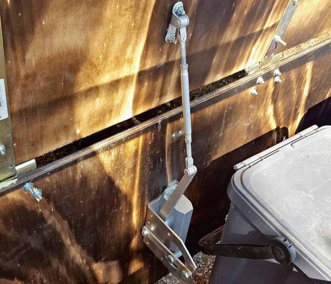 braccio idraulico cassapanca da esterno