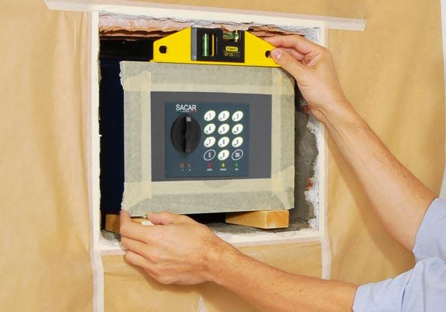 come installare casseforti a muro