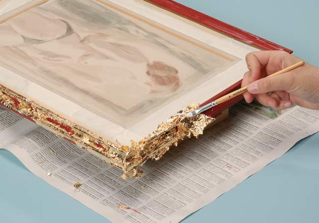 decorazione con foglia d'oro