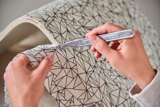 sedie decorate con stoffa