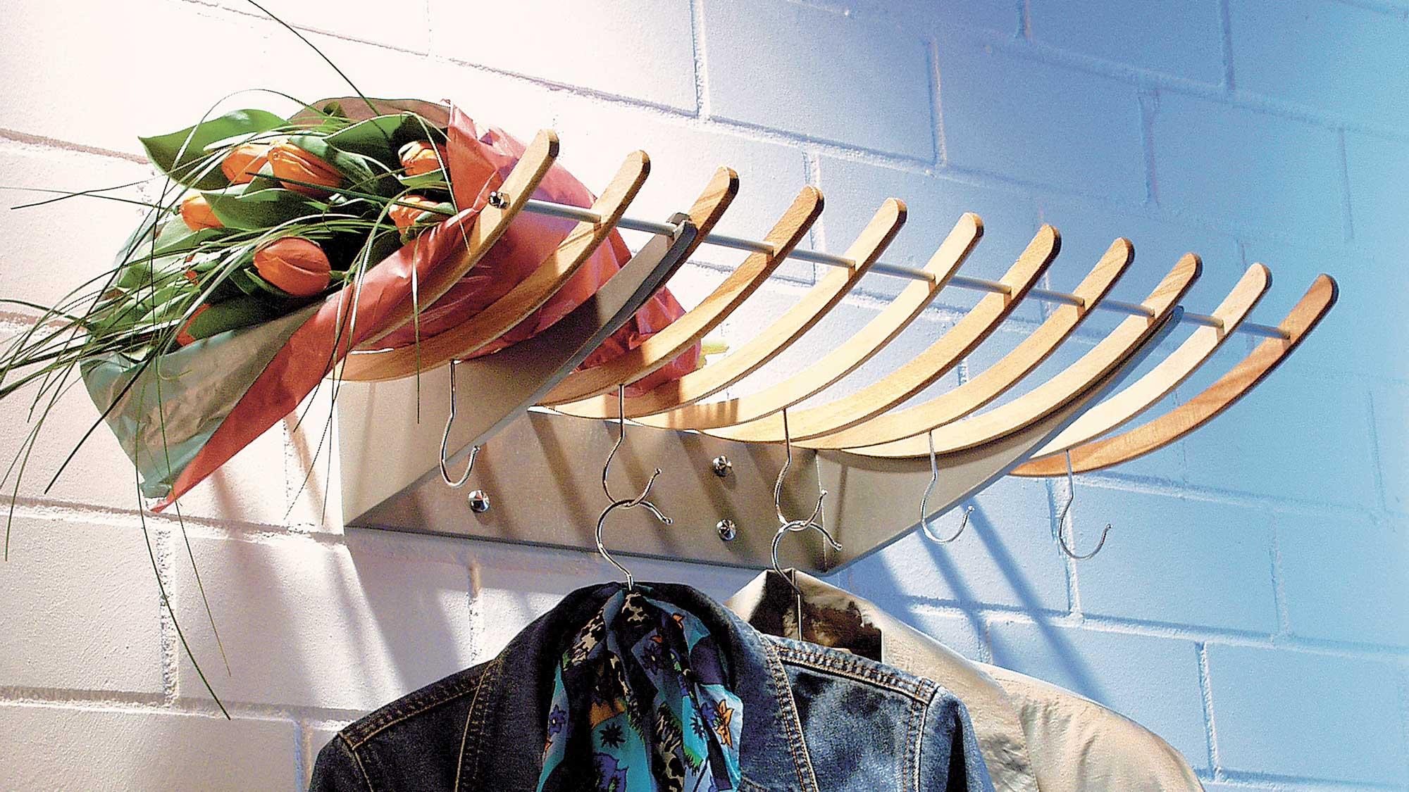 Appendiabiti in legno da parete | Realizzazione fai da te