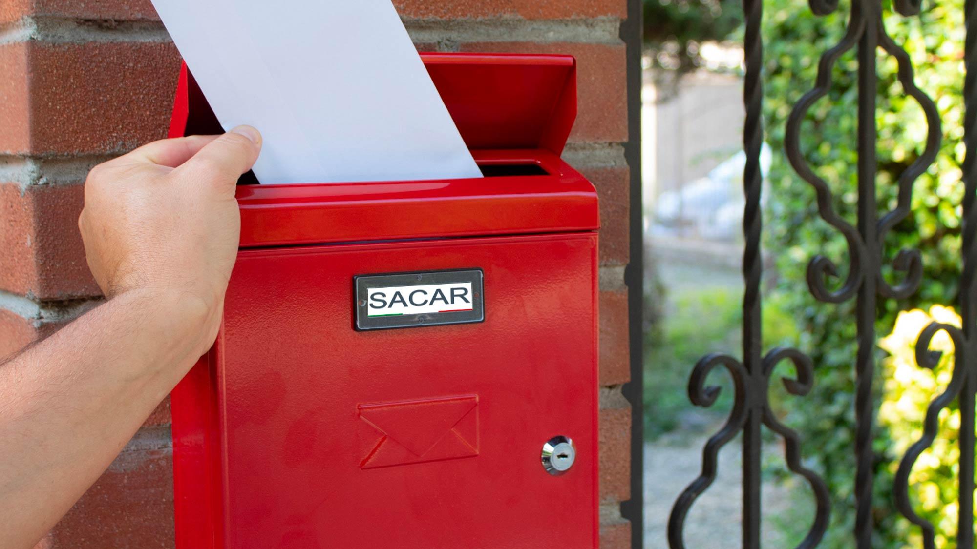 Cassetta postale Sacar | In lamiera leggera e semplice da installare