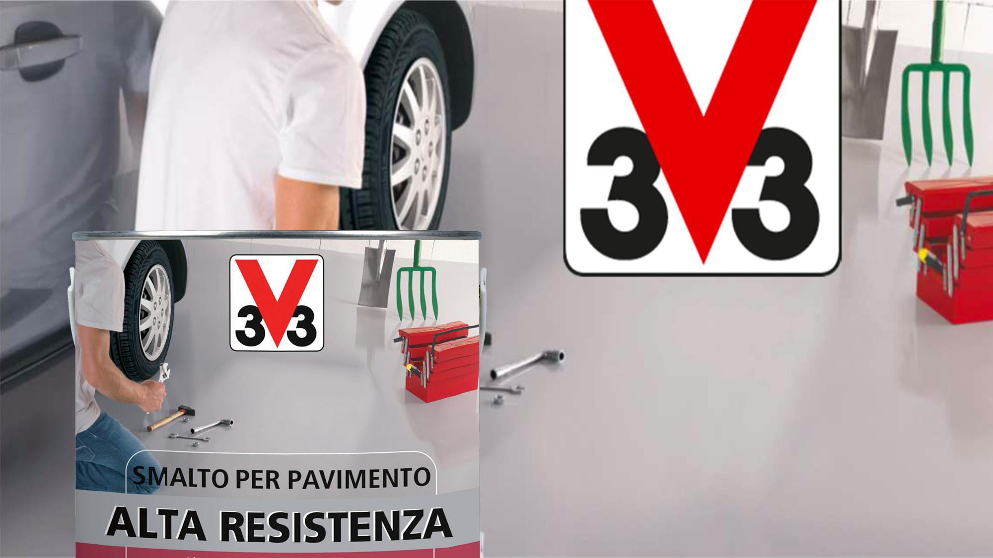 Smalto per pavimenti ad alta resistenza | V33