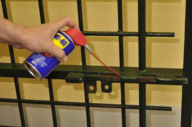 lubrificazione chiavistello