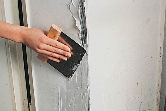 riparare uno spigolo del muro