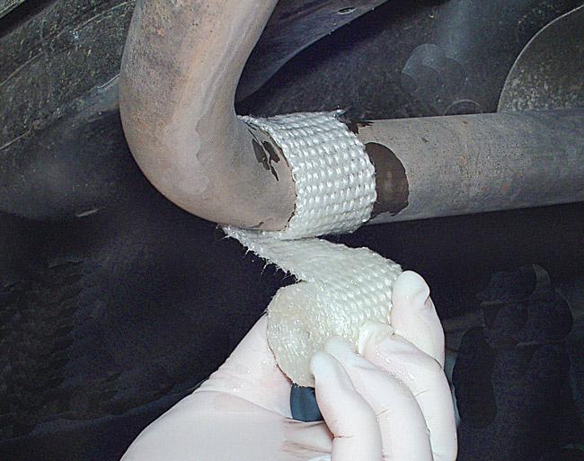 benda riparazione marmitta auto