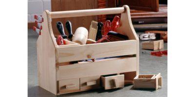 cassetta porta attrezzi in legno