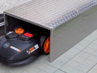 garage per robot tagliaerba fai da te