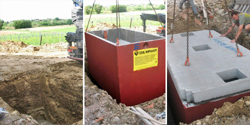 Fossa biologica imhoff come installarla bricoportale for Fosse settiche in cemento