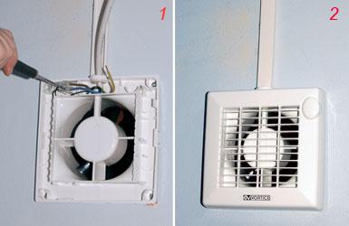 Collegamento elettrico aspiratore vortice pannelli termoisolanti - Aspiratori vortice per bagno chiuso ...