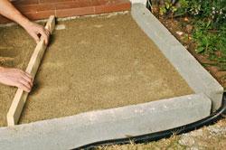 foto di stesura sabbia