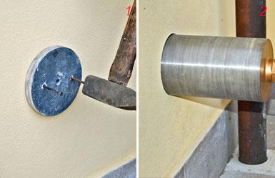 Presa d'aria nel muro con sega a tazza contro l'umidità