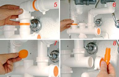 Installare un sifone salvaspazio bricoportale fai da te e bricolage - Scarico lavello cucina ...