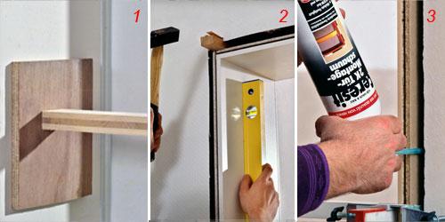 Come montare una porta bricoportale fai da te e bricolage - Montare telaio porta ...