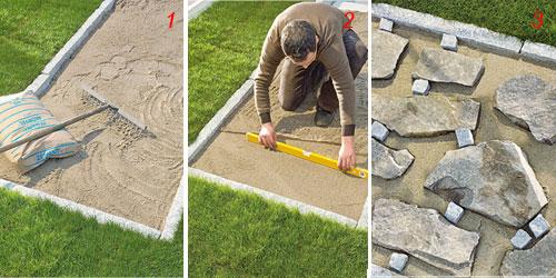 Fare un vialetto con pietre di recupero bricoportale - Pietre per vialetti da giardino ...