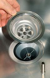 Proteggere la piletta lavello con il basket bricoportale fai da te e bricolage - Guarnizione scarico lavandino cucina ...