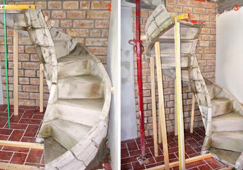 Scale elicoidali in cemento prefabbricate – Accogliente casa di campagna