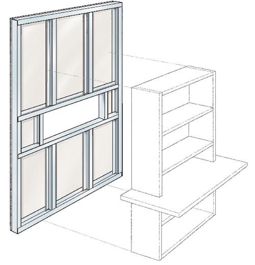 Parete Esterna In Cartongesso : Semi parete in cartongesso separa gli ambienti