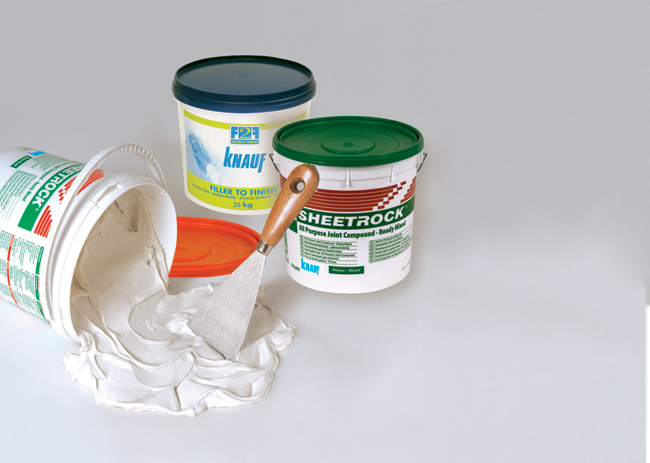prodotti knauf per la stuccatura del cartongesso
