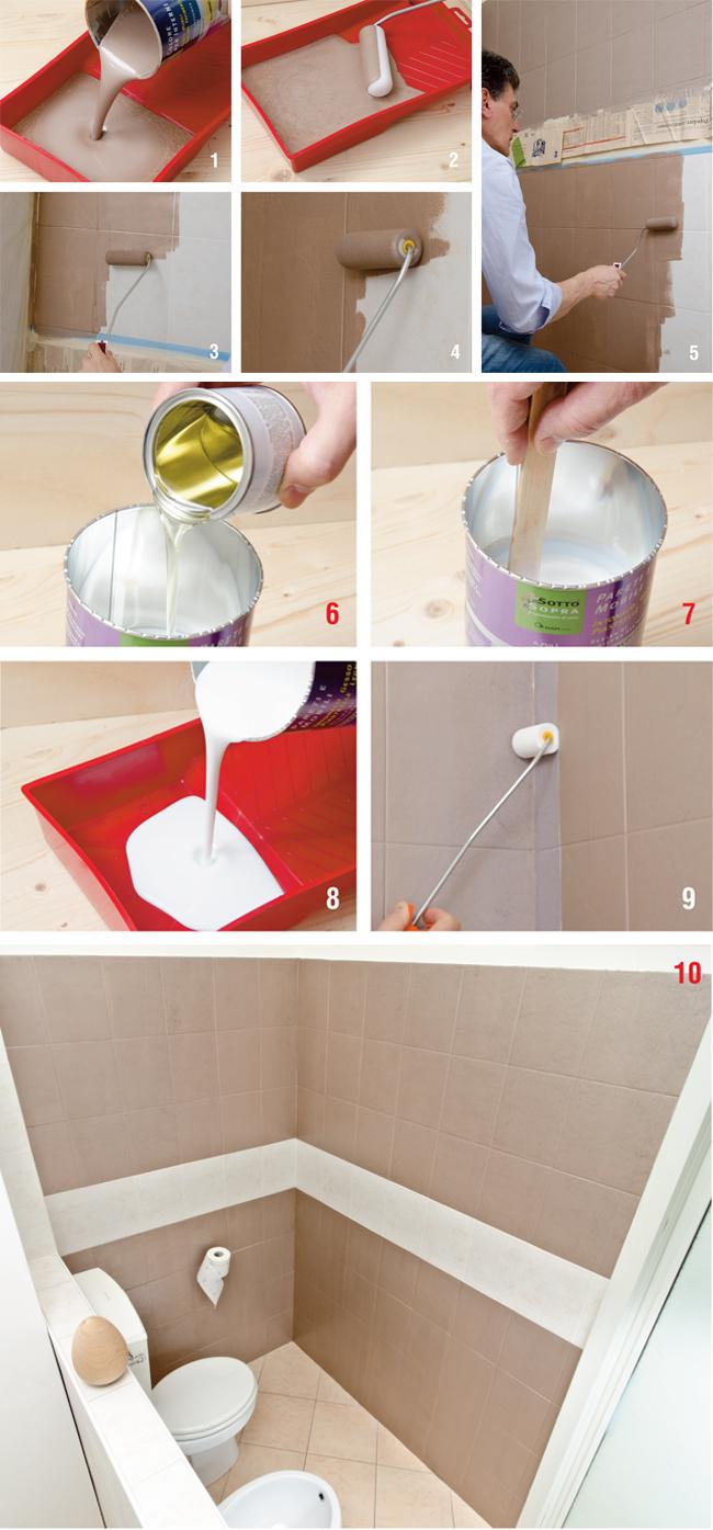 Nuovo bagno con sottosopra bricoportale fai da te e - Pitturare piastrelle bagno ...