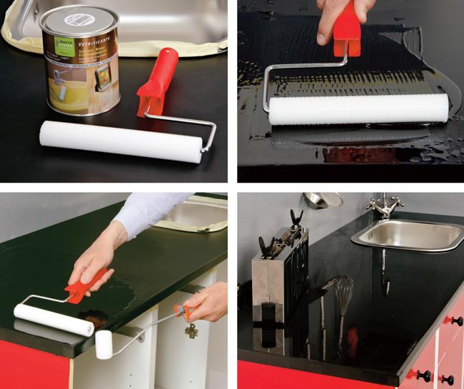Cucina rinnovata con il ciclo sottosopra bricoportale - Vernice per ante cucina ...