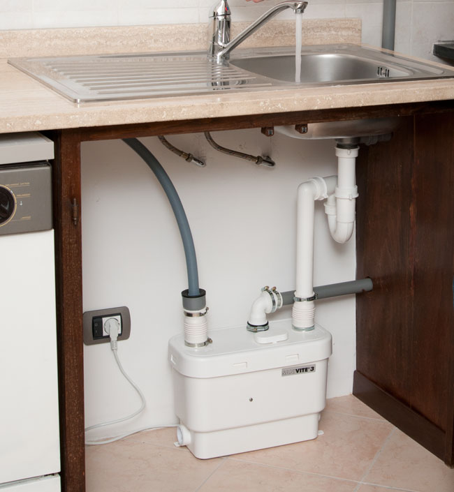 Pompa Per Scarico Lavello Cucina.Una Lavanderia Con Sanitrit Sanivite 3 Bricoportale Fai