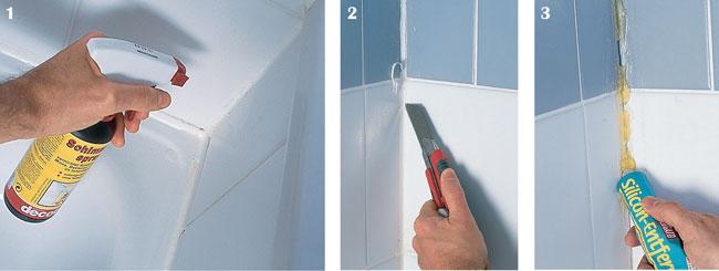 Come rimuovere silicone dalle piastrelle cemento armato precompresso - Togliere colla piastrelle ...