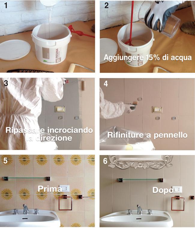 Kit resina rinnovafacile bricoportale fai da te e bricolage - Coprire piastrelle bagno resina ...