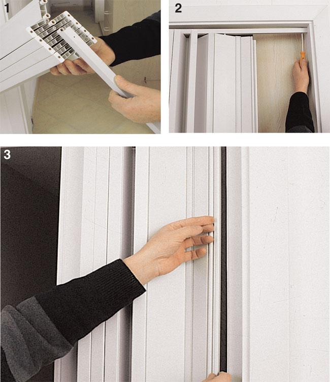 Installare porte a soffietto bricoportale fai da te e bricolage - Porta a soffietto in legno ...