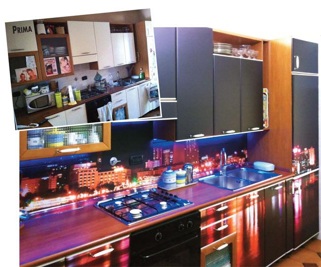 Pellicole adesive per mobili cambiare look in poche mosse for Carta adesiva lavabile per cucina