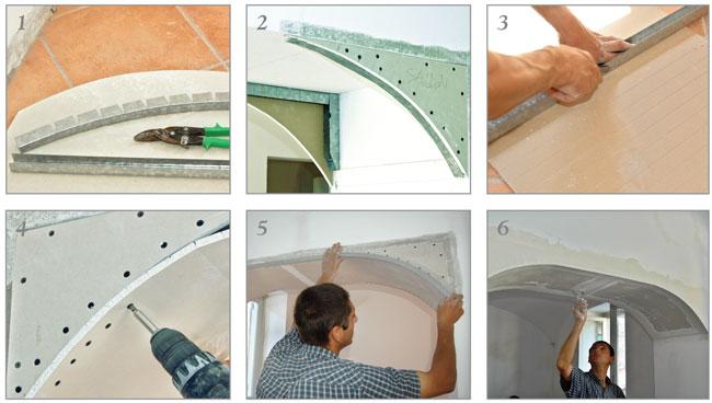 Arco in cartongesso bricoportale fai da te e bricolage for Arco per rampicanti fai da te