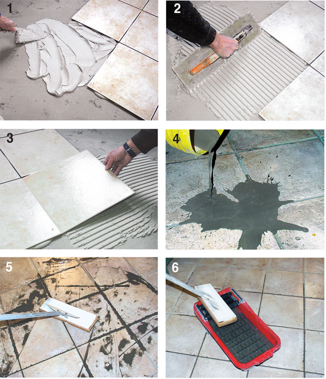 Piastrellare un pavimento bricoportale fai da te e - Piastrellare su piastrelle ...