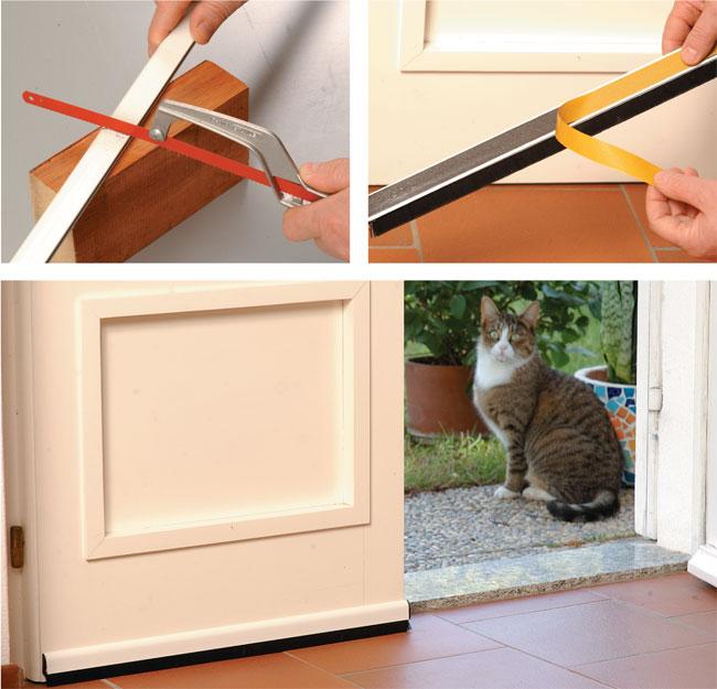 Paraspifferi per porte e finestre bricoportale fai da te e bricolage - Capottina parapioggia per porte e finestre ...