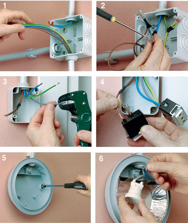 Come installare un nuovo punto luce bricoportale fai da - Colori dei fili impianto elettrico casa ...