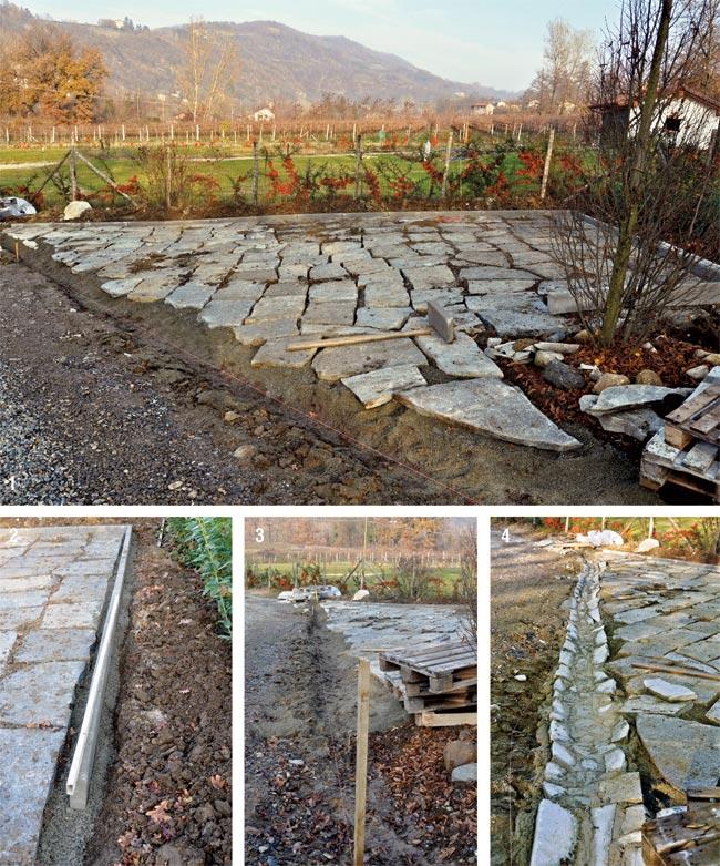canale di scolo in pietra
