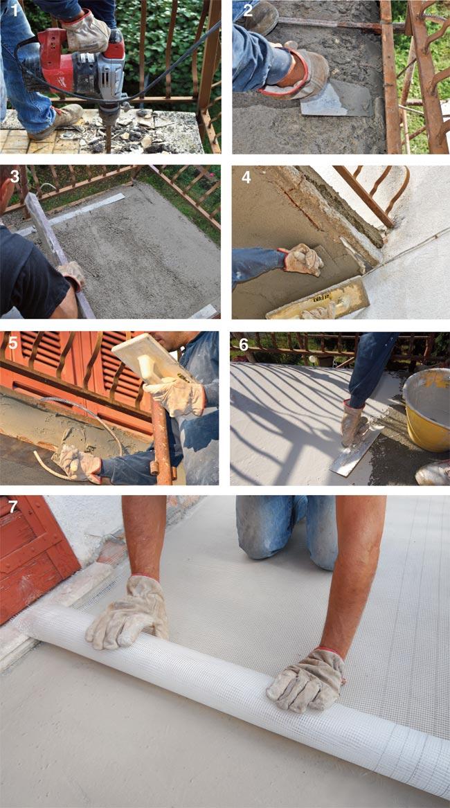 Affordable demolizione piastrelle balcone e ripristino - Piastrelle per balcone ...