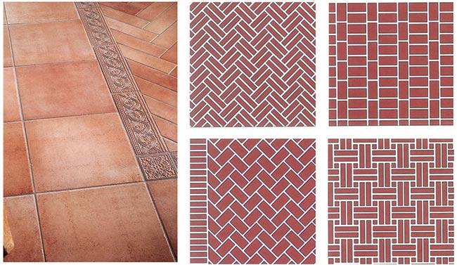 Pavimenti in cotto interni ed esterni tipi e - Tipi di posa piastrelle ...