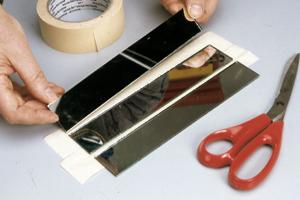 Fissaggio vetri caleidoscopio