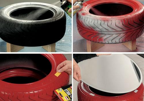 Riciclaggio pneumatici usati. luarte del riciclo come i vecchi