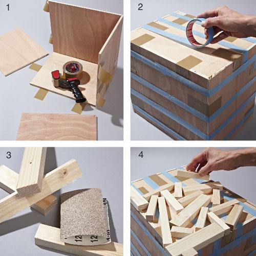 tavolino fai da te con legnetti di recupero | guida illustrata - Tavolo Soggiorno Fai Da Te 2