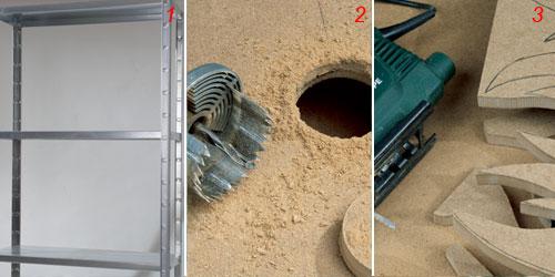 Scaffale metallico trasformato in armadio   bricoportale: fai da ...
