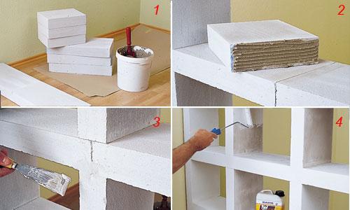 Scaffali In Muratura.Costruire Uno Scaffale Di Cemento Cellulare Bricoportale