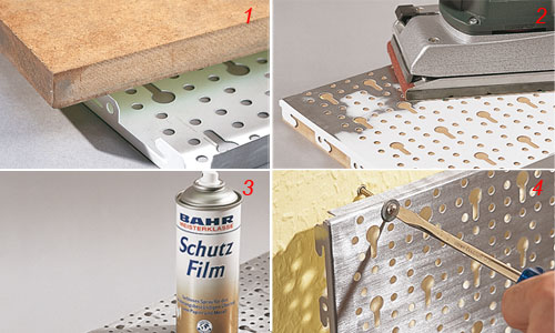 Griglia in metallo satinato per appendere gli utensili - Attrezzi da cucina per dolci ...