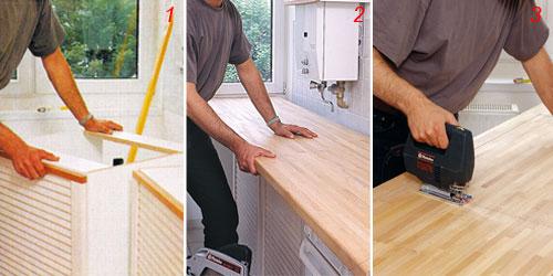 Top cucina come installarlo bricoportale fai da te e for Obi pannelli legno