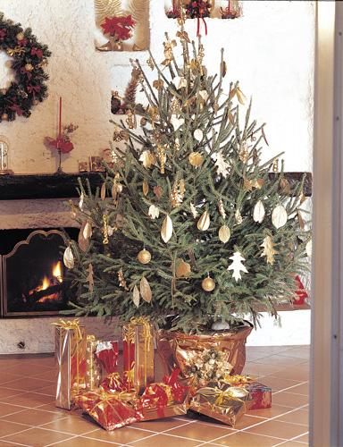 Decorazioni natalizie oro