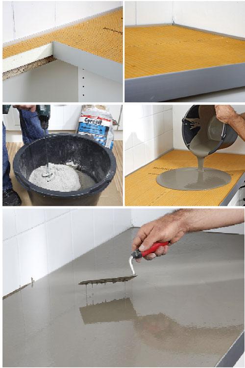 Piano cucina in cemento e kerdi board bricoportale fai - Top cucina in cemento ...