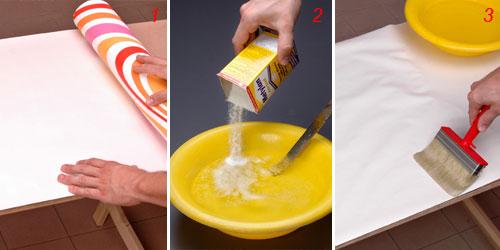 Applicare carta da parati su mobili pannelli termoisolanti for Tovaglie plastificate leroy merlin